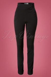 Miss Candyfloss 40s Black High Waist Pants 131 10 13708 20140907 0002W
