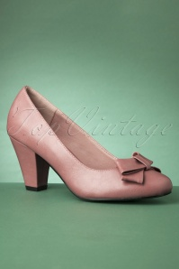 50s Tracey High Heels in Dusty Pink