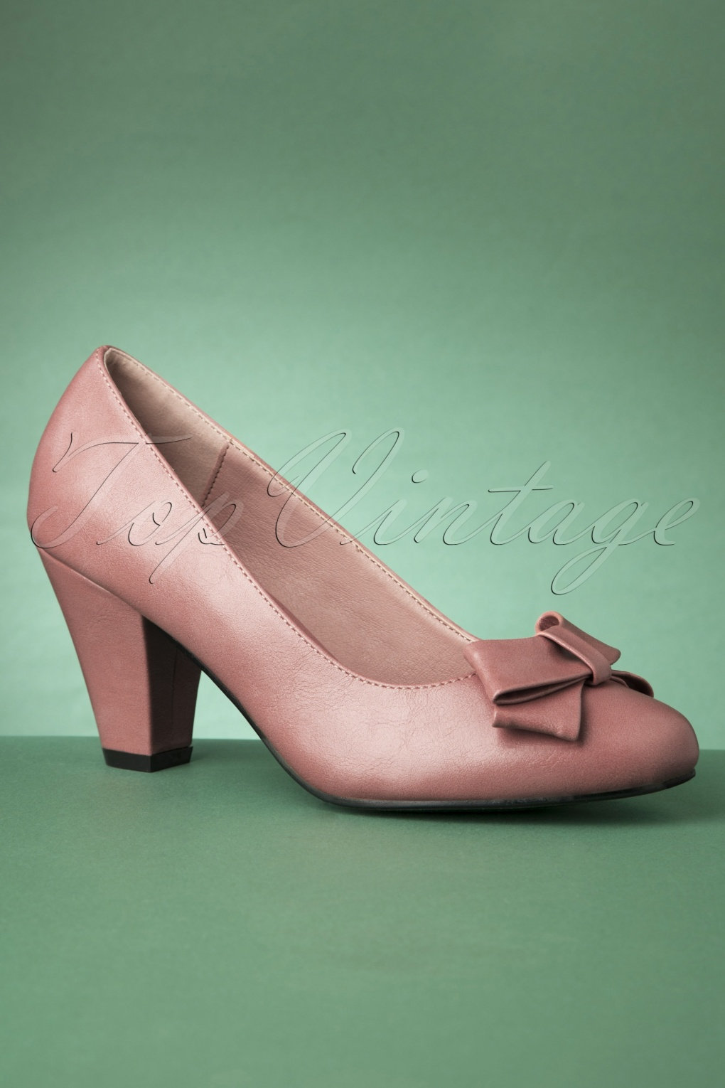 Rockabilly Shoes- Heels, Pumps, Boots, Flats 50s Tracey High Heels in Dusty Pink £45.54 AT vintagedancer.com