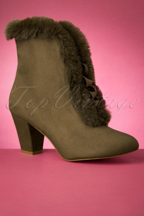 Lulu Hun 30527 Boots Tatiana Olive Fur 20190902 0010 W