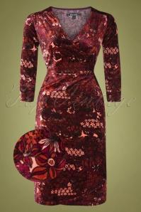 King Louie 29422 Mandy Wrap Midi Dress Red20190705 004 z