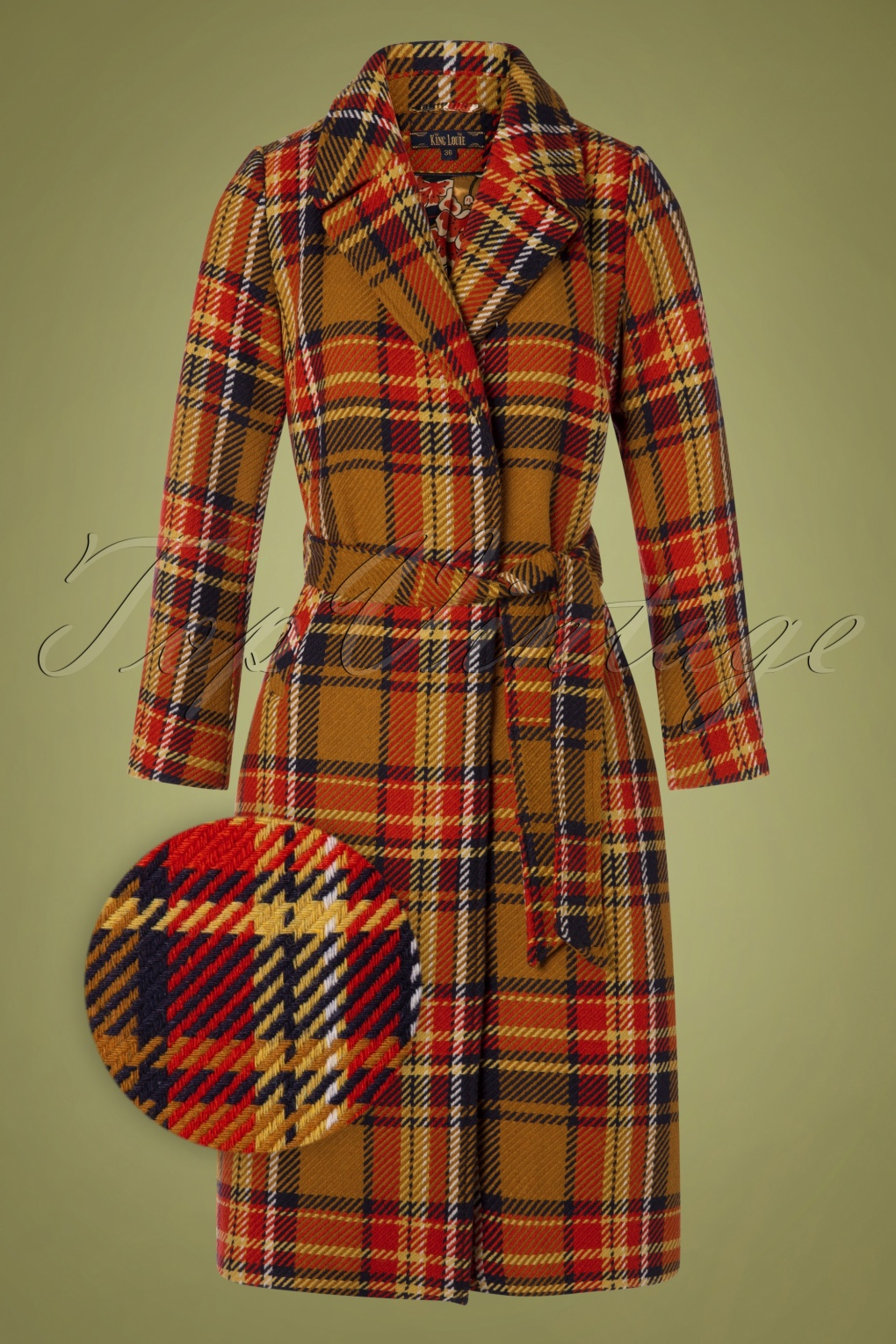 1960s Style Dresses, Clothing, Shoes UK 60s Robin Sapeur Coat in Gold Yellow £201.25 AT vintagedancer.com