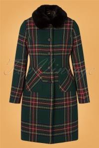 60s Nathalie Highlands Coat in Green