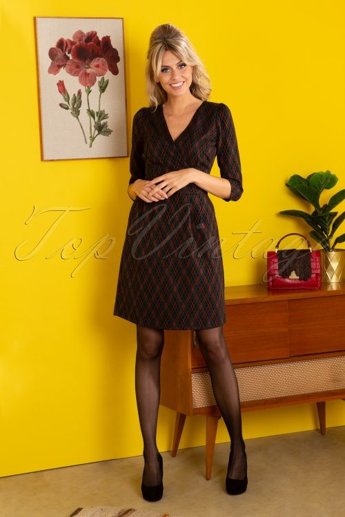 King Louie 29406 Cross Tulip Dress Argyle Black20190708 040M W