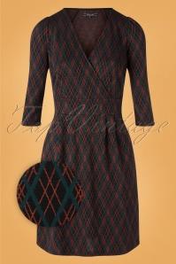 King Louie 29406 Cross Tulip Dress Argyle Black20190708 001 Z