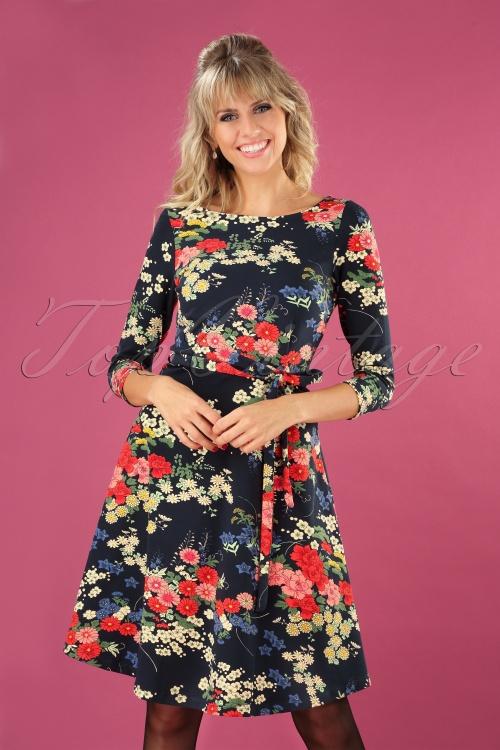 King Louie 29393 Betty Dress Nabana in Night Blue 20190729 040MW