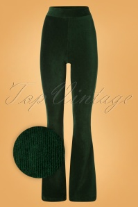 King Louie 29395 Flareds Legging in Green Rib Velours 20190729 003Z