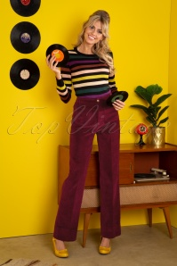 King Louie 70s Garbo Colonne Corduroy Pants in Cherise Red