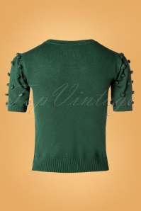 Vixen 30941 40s Elaine Bow Top in Green 20190903 004W