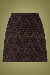 King Louie 29407 Olivia Skirt Argyle Black20190620 008W