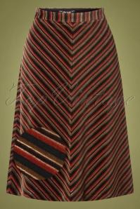King Louie 29439 Trudy Skirt Nikki Stripe Pine Green20190620 003Z