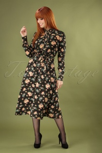 60s Sheeva Americana Midi Dress in Black