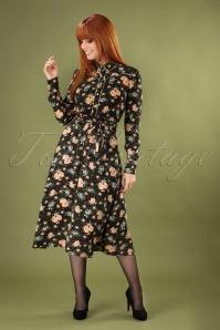Sheeva Americana Midi Dress Années 60 en Noir