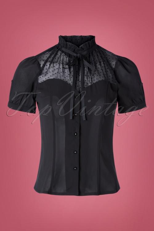 Vixen 30924 Top Transparent Dots Black 09042019 005W