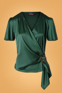 Vixen 30923 Top 50s Nina Satin Green Wrap 09042019 003W