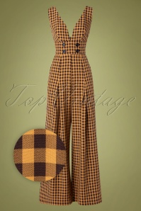 Vixen 30945 Jumpsuit 70s Clara Checked Okar 09042019 002Z