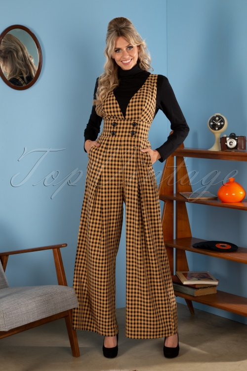 Vixen 30945 Jumpsuit 70s Clara Checked Okar 1102019 3553W