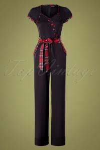 50s Vanessa Wide Leg Jumpsuit in Black