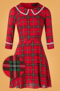 Vixen 30901 Swingdress Harley Shadow Red Checked 09042019 002W1