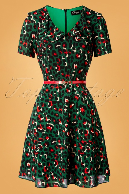Vixen 30900 Melissa Camouflage Leopard Green Dress 20190906 005W
