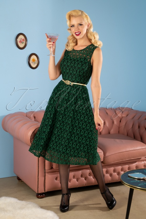 Vixen 30904 50s Dress Gabriella Green 20191106 2605W