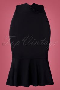50s VV X Acid Doll Blithe Pencil Skirt in Black
