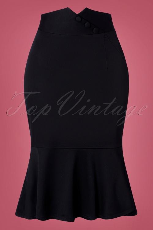 Vixen 30910 Pencilskirt Black 09042019 002W