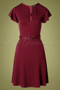 Vixen 30887 50s Sharon Swing Dress in Red 20190905 0003W