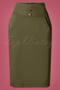 Vixen 30906 Martha Pencil Skirt Green 20190905 0002W