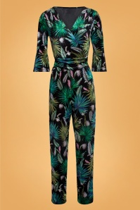 Smashed Lemon 30206 Black Leafs Jumpsuit 20190903 021L