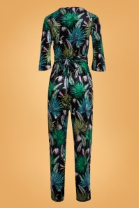 Smashed Lemon 30206 Black Leafs Jumpsuit 20190903 020L