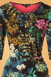 Smashed Lemon 30204 Black Multi Floral Dress 20190906 001V