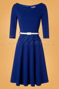 Vintage Chic for TopVintage 50s Arabella Swing Dress in Royal Blue