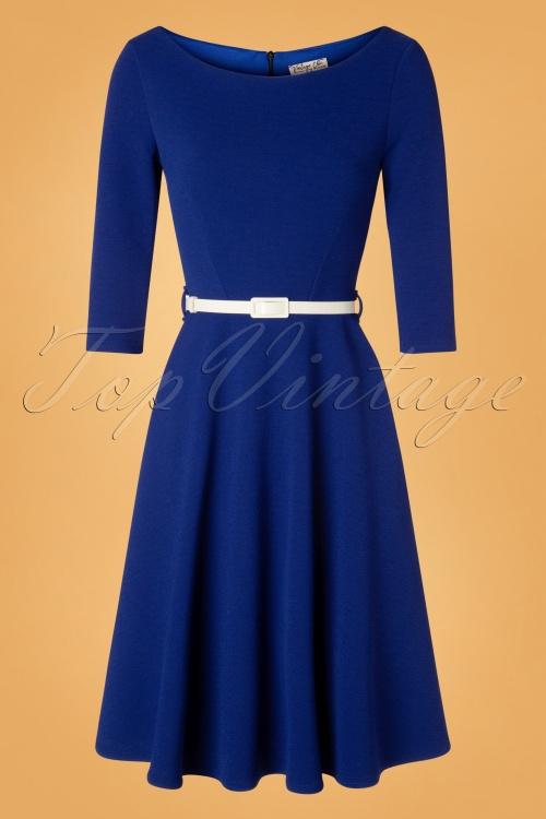 Vintage Chic 31431 Blue Swing DRess 20190906 003W