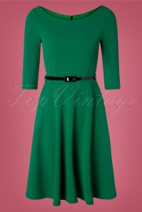 Vintage Chic for TopVintage 50s Arabella Swing Dress in Emerald Green