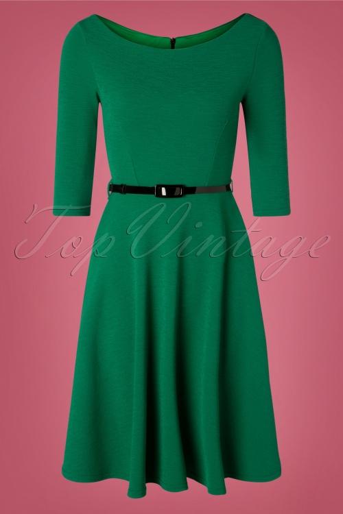 Vintage Chic 31430 Emerald Green Swing Dress 20190906 002 W