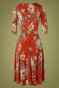 Vintage Chic 31542 Red Floral Swing Dress 20190906 008W
