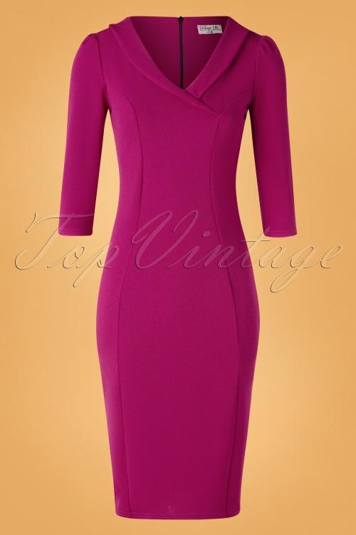 Vintage Chic 31246 Pencildress Amarath Pink 09092019 002W