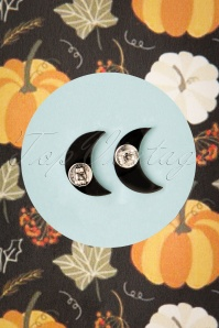 Erstwilder 32098 Earrings Moon Black Blue Glitter 09102019 000006W