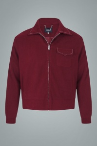 Collectif 31603 Morgan Plain Jacket in Burgundy 20190903 021LW