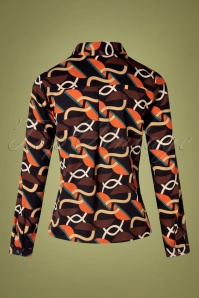 Smashed Lemon 30238 Blouse Black Orange 09092019 005W