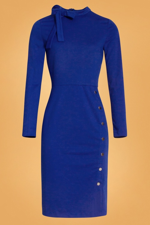 Smashed Lemon 30230 Pencil Dress in Cobalt 20190903 020LW