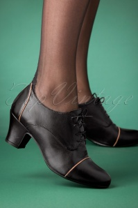 Miz Mooz 40s Felice Shoe Booties in Black