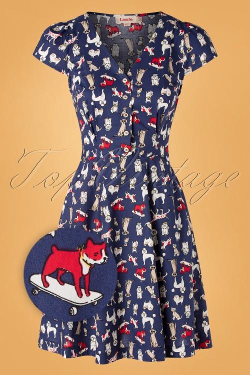 Louche 30193 Swingdress Cathleen Dogshow Blue 09092019 0002Z