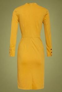 Smashed Lemon 30229 Pencil Dress in Mustard 20190903 021LW
