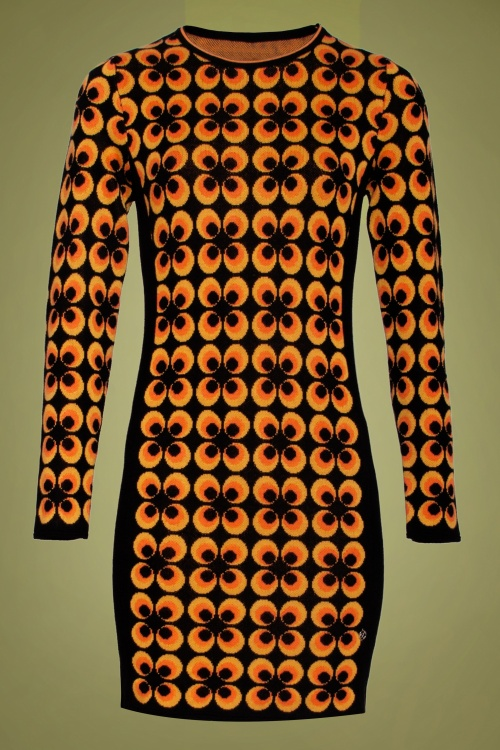 Smashed Lemon 30232 Print Pencil Dress 20190903 021L W
