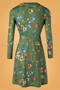 Yumi 29772 Swingdress Green Butterfly Plants 09092019 008W