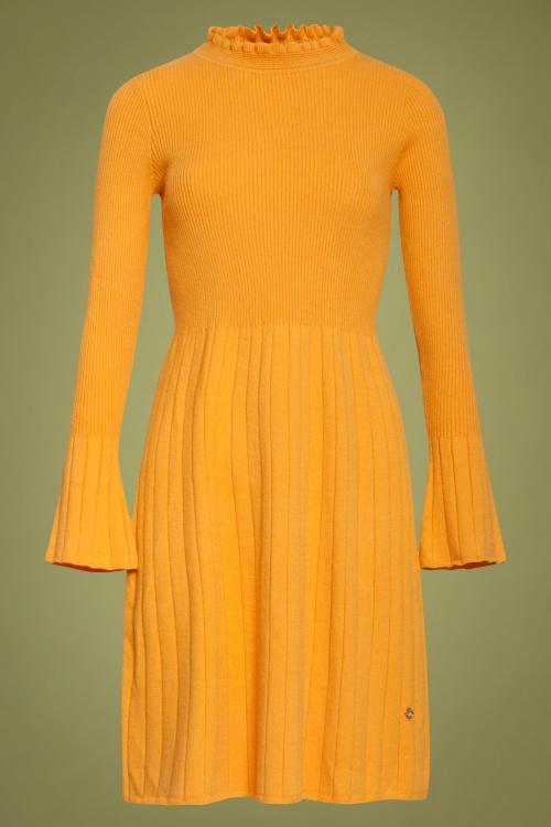 Smashed Lemon 30231 Knit Dress in Mustard 20190903 020LW