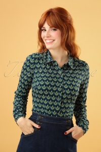 60s Fiddle Blouse in Black