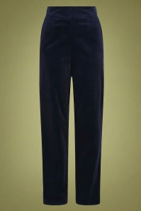 Collectif 29872 Brianna Suit Trousers in Navy 20190430 021L W